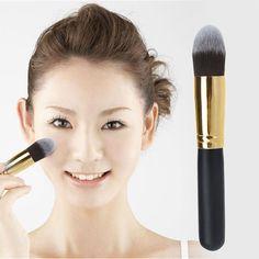 Pas cher 1.24E - Mode Conique Pinceau Cosmétique Visage Maquillage Poudre Blush Fondation Outil pinceau Noir 14 cm, Acheter  Brosses et instruments de maquillage de qualité directement des fournisseurs de Chine:Prévoir délai +- 3 semaines pour livraison gratuite