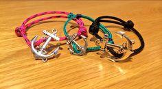 Anchor bracelet family - Daddy Pirate Bracelet, Mummy Pirate Bracelet & Baby Pirate Bracelet!