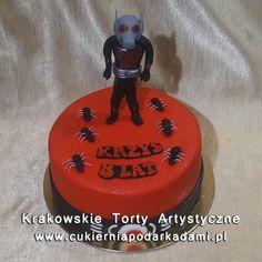 129. Czerwony tort z Ant Man'em. Ant Man cake.