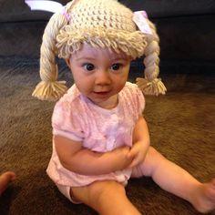 Col parche sombrero peluca para disfraz de por ChickaDeeYarnWigs