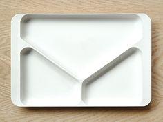 present + correct   melamine desk tray