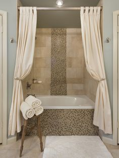 Making Your Bathroom Look Larger With Shower Curtain Ideas | Pinterest | Curtain  Ideas, Bath And House