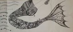 Drawings for mail art with zentangle style