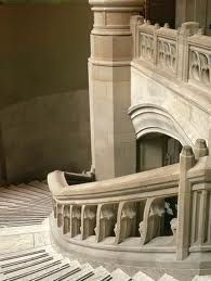 The grand staircase in UW's Suzzallo Library.