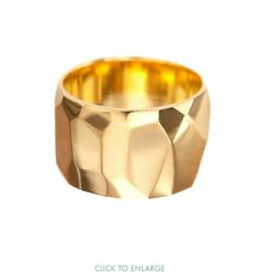 ariel gordon | faceted cigar band ring