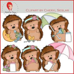 NEW Pepper the Hedgehog Little Babies Clipart by by marlodeedesigns, $1.25
