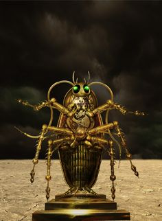 Steampunk Cockroach by Ralf Schuetz , via Behance