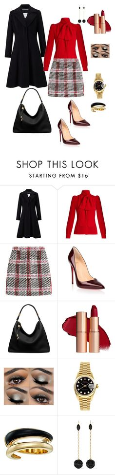 """""""Untitled #254"""" by tamara-kesic ❤ liked on Polyvore featuring John Lewis, Sonia Rykiel, Carven, Christian Louboutin, Michael Kors, Rolex and Isabel Marant"""