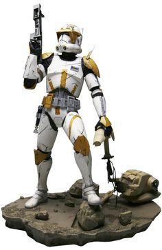 """Star Wars """"Commander Cody"""" ArtFX Kotobukiya Statue New MIB HTF"""