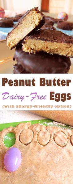 Dairy-Free Peanut Butter Eggs Recipe - great Easter treat or make into other shapes! Vegan, gluten-free, optionally nut-free