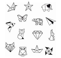 Geometrische Tier Diamond Shapes Knöchel Handgelenk temporäre Tätowierung - Knöchel Tattoo - Party Tattoo to make temporary tattoo crafts ink tattoo tattoo diy tattoo stickers Origami Tattoo, Diy Tattoo, Tattoo P, Tattoo Ideas, Tattoo Style, Tattoo Drawings, Geometric Tattoo Design, Geometric Art, Geometric Animal