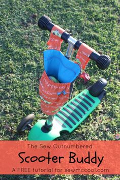 """Learn how to sew a scooter buddy pouch so your little one will be able to carry a drink or """"special items"""" wherever he or she scoots!"""