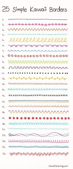 How to draw 25 Simple Kawaii Borders with ballpoint and felt tip pens these are adorable doodle borders to practice Bullet Journal Lettering Ideas, Bullet Journal Banner, Bullet Journal Notebook, Bullet Journal Ideas Pages, Bullet Journal Inspiration, Book Journal, Bullet Journal School, Bullet Journal Aesthetic, Lettering Tutorial