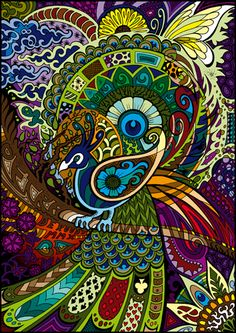 70's poster peacock