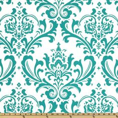 Premier Prints Traditions True Turquoise from @fabricdotcom  Screen printed on cotton duck; this versatile medium weight fabric is perfect for window accents (draperies, valances, curtains and swags), accent pillows, duvet covers and upholstery. Create handbags, tote bags, aprons and more. *Use cold water and mild detergent (Woolite). Drying is NOT recommended - Air Dry Only - Do not Dry Clean. Colors include turquoise on white.