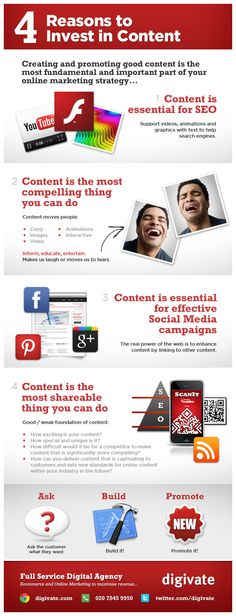 Why Invest In Content? Infographic - we like this summary of these 4 reasons