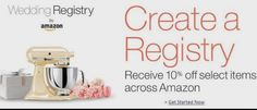 Create an Amazon Wedding Registry!  ➩➩ ➩ ➩      http://amzn.to/2pjzYtc