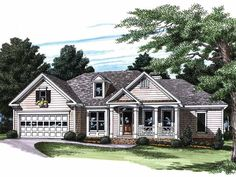 Eplans Country House Plan - More than a Ranch - 1932 Square Feet and 4 Bedrooms(s) from Eplans - House Plan Code HWEPL08016