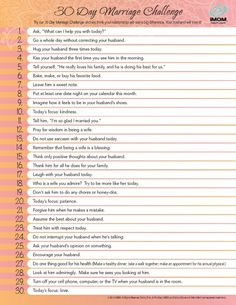 30 day marriage challenge/relationship builder spouse-family