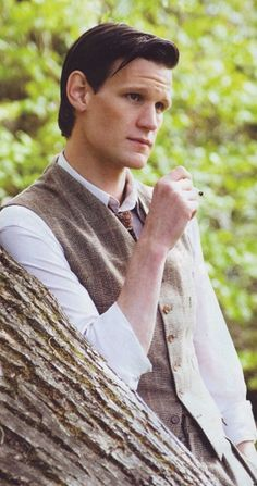 {Matt Smith} {british accent}Hello, I'm Andrew. I'm here because I 'think I'm a made up character called the Doctor' but I really am! Humans honestly don't understand... I'm very friendly so come say hi?