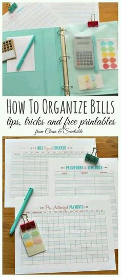 to Organize Bills Lots of great tips to keep up with your bill payments including these free printables. Great for a family binder! // Lots of great tips to keep up with your bill payments including these free printables. Great for a family binder! Organisation Hacks, Organizing Hacks, Storage Organization, Financial Organization, Household Organization, Organising, Household Binder, Bill Organization Binders, Family Organizer Binder