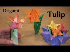 Origami Tulip, Leaf and Stem