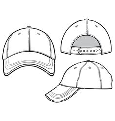 Hat Template Flat Sketches Drawing Templates Fashion Clothes