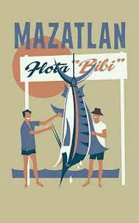 Mazatlan vintage poster