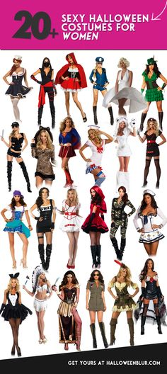 Are you a girl looking for sexy halloween costumes? Here are some sexy Halloween Costume Ideas For Women including marilyn monroe, women police, leopard, captain, red riding hood, nurse, bunny, pocahontas. Click the PIN to shop! Which one is your favorite?