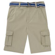 French Toast Boys' Cargo Short 12 - Khaki (Green), Boy's