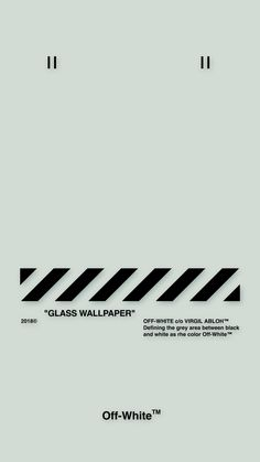 """Off-White™WALLPAPER IPHONE 壁紙 18/5/2 """"GLASS WALLPAPER"""" OFFWHITE"""
