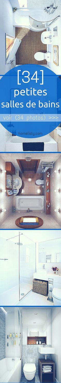 Petite Salle de Bain : 34 PHOTOS (idées & inspirations) - Annick Thévenot - My Ideas Cottage Design, House Design, Parisian Bathroom, Bad Inspiration, Bathroom Layout, Bathroom Ideas, Home Deco, Interior Architecture, Small Spaces