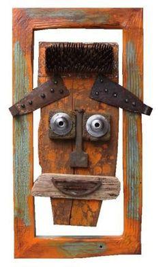 Driftwood Projects, Pallet Projects, Driftwood Ideas, Multimedia Arts, Art Premier, Tribal Art, African Art, Wood Wall Art, Sculpture Art