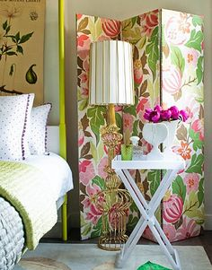 Bold floral screen.