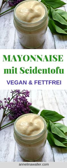 Light, fat-free mayonnaise with silk tofu, vegan, dips, sauces - Vegane Rezepte - Best Food Vegetarian Breakfast, Vegetarian Recipes, Healthy Recipes, Vegan Snacks, Vegan Desserts, Mayonnaise Light, Buckwheat Cake, Snacks Sains, Vegetable Protein