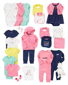 eaa78e7b7 Carter's Baby Girls' 15-Piece Basic Essentials Set #kidswear #babygirlswear  #babygirloutfit #cutebabyclothes #babygirlsmusthave… | everything baby girl  ...
