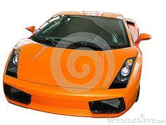 Lamborghini Gallardo orange.isolated on white background