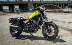 Descargar fondos de pantalla Honda Rebel 500 de 2017, bicicletas, japonés de motocicletas, Honda