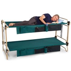 Adult Fold-Up Bunk Beds - The 'Foldaway Adult Bunk Bed' Will Improve Comfort for Campers (GALLERY)