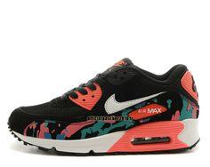 Officiel Nike Air Max 90 SJX Chaussures Nike Sportswear Pas Cher Pour Femme Noir - Rouge - Blanc - Vert