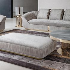 Newest collection shown in the Milan furniture show. Custom colors available, leather, velvet, nabuk, fabric Milan Furniture, Sofa Furniture, Furniture Design, Antique Furniture, Luxury Italian Furniture, Luxury Home Furniture, Living Room Sofa Design, Sofa In Bedroom, Modern Sofa Designs