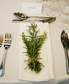 close up - herb wedding decor by Pollen Nation in London.