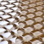 Brown glass mosaic tiles Kitchen Mosaic, Glass Mosaic Tiles, Glass Texture, Copper, Interior Design, Brown, Red, Nest Design, Kitchen Splashback Tiles