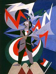 Fortunato Depero Étude pour  Marinetti temporale patriotico,  1924 collage, 78,5 x 59 cm
