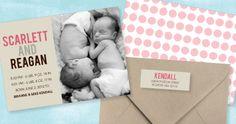 twin birth announcements - Google Search