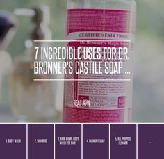 7. Clearing Congestion - 7 Incredible Uses for Dr. Bronner's Castile Soap ... → DIY
