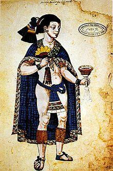 Nezahualpilli, an Aztec king. From Codex Ixtlilxochitl.