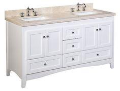 Bathroom Vanities Double Sink 60 Inches stufurhome 60 inch malibu pure white double sink bathroom vanity