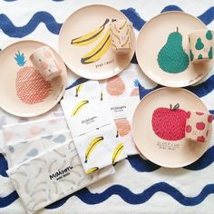 There's so much fruity goodness in these stylish Bobo Choses melamine plates and cups.