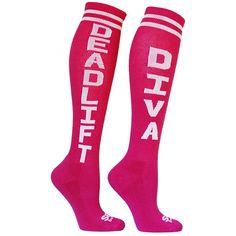 7d9fadd6d DEADLIFT DIVA Knee High Socks ( 10) ❤ liked on Polyvore Wod Gear